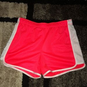 Justice active wear fold over mesh shorts